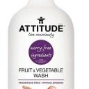 Čistič na ovoce a zeleninu ATTITUDE bez vůně s rozprašovačem 800 ml