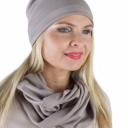 Meera Design Šmrncovní čepice Lilith - tmavě béžová