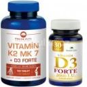 Pharma Activ Vitamín K2 MK7 + D3 FORTE 125 tableta + Vitamín D3 Forte 30 tablet ZDARMA