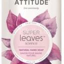 Přírodní mýdlo na ruce ATTITUDE Super leaves s detoxikačním účinkem – čajové listy 473ml
